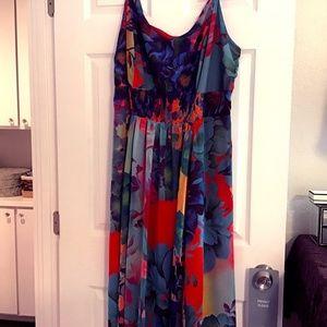 🛍Nordstrom City Chic EUC Plus Maxi Tropical Dress
